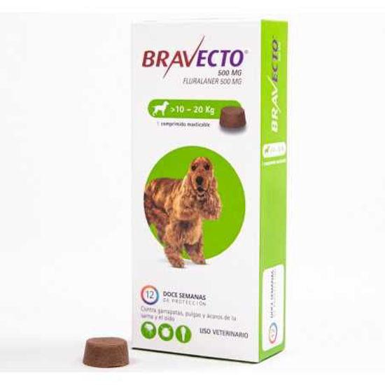 Imagen de Bravecto 500 Mg (10-20 Kg)