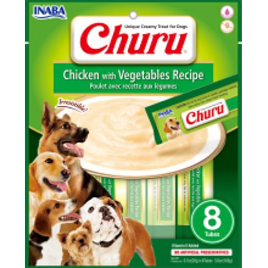 Imagen de Dog Churu Chicken With Vegetables Recipe 8 Tubes
